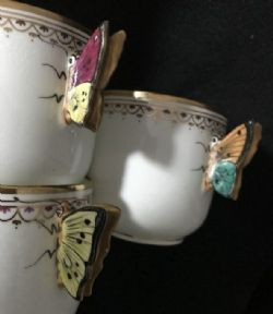 Delicate Collingwood Brothers Butterfly tea trio